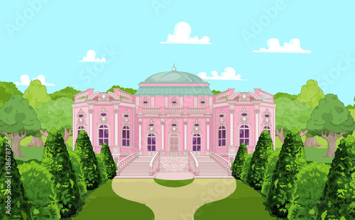Poster Magie Romantic Palace for a Princess