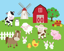 Vector Illustration Of Farm An...