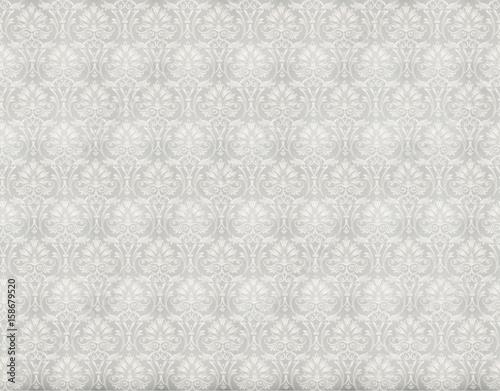 In de dag Retro cool retro floral wallpaper in tan and brown design