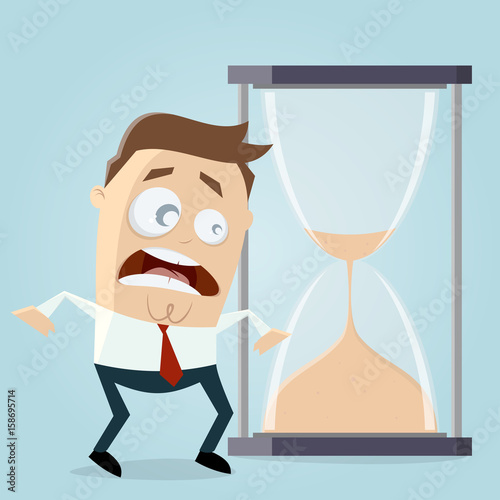 Fotografie, Tablou  time is running out hourglass clipart