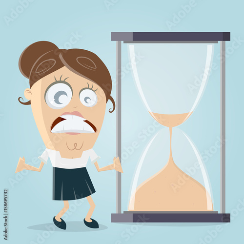 time is running out hourglass clipart Fototapet