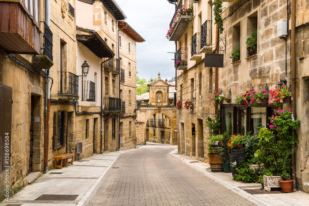 peaceful street of rioja town, Spain