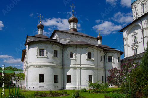 MOSCOW, RUSSIA - MAY, 2017: Novospassky Monastery in spring day Wallpaper Mural