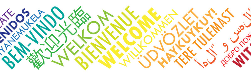 """WELCOME"" Tag Cloud transla..."