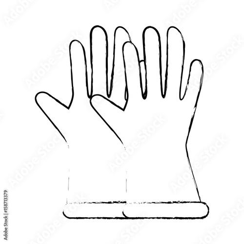 Gardening gloves equipment icon vector illustration graphic