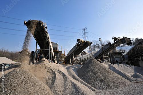 Photo Sand aggregate work