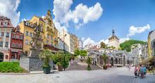 Die Innenstadt Von Karlsbad In Der Tschechischen Repuplik