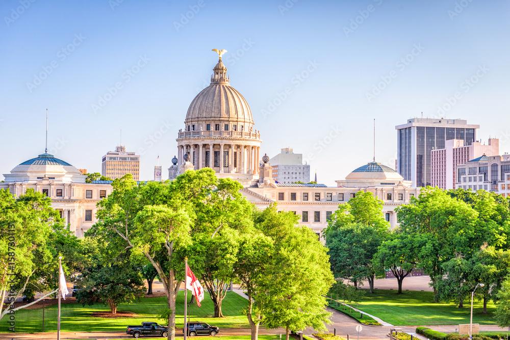 Fototapety, obrazy: Jackson, Mississippi, USA downtown Cityscape
