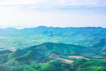 green moutain and skyblue natural in thailand