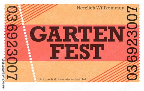 Garten Fest Ticket Kasse Eintritt   Klassische Eintrittskarte   Webshop    Onlineshop