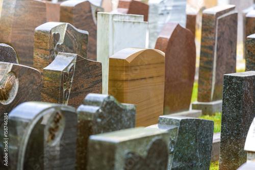 Photo new grave stones