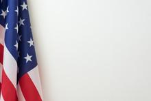 US Flag Border On White Backgr...