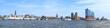 Leinwandbild Motiv Hamburg harbor Panorama