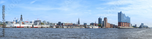 Fotografía  Hamburg harbor Panorama