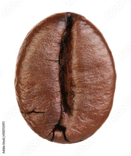 Photo sur Toile Salle de cafe Coffee bean isolated on white background