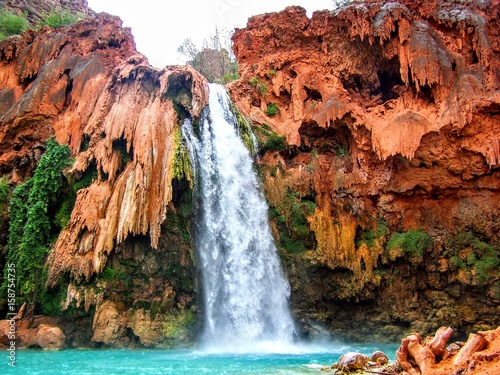 Photo  Havasu Falls, Havasupai Indian Reservation, Grand Canyon, Arizona