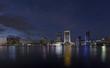 Jacksonville skyline at twilight