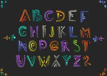 Vector Handwritten Alphabet In...