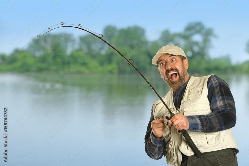 Photo Art Print Fisherman Catching Fish Europosters