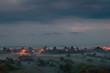 krajobraz, mgła, wieś