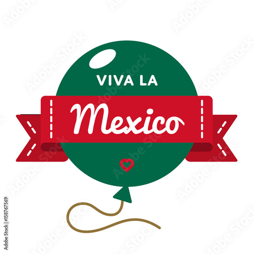 Viva la mexico emblem isolated vector illustration on white viva la mexico emblem isolated vector illustration on white background 16 september patriotic holiday event m4hsunfo