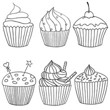 Vector Cupcake Illustration. S...