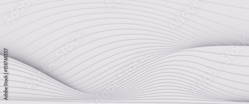 Keuken foto achterwand Fractal waves Wave band abstract background surface 3d rendering