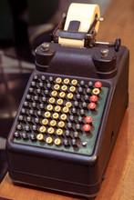 Old Style Desk Vintage Calcula...