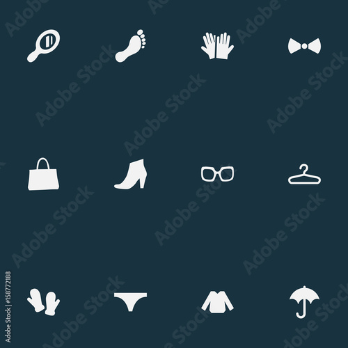 Vector Illustration Set Of Simple Dress Icons Elements String