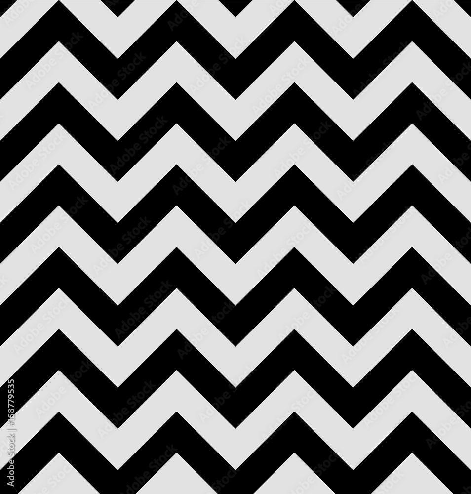 Wzór zygzakowy jest w stylu twin peaks. Hipnotyczne tapety tekstylne