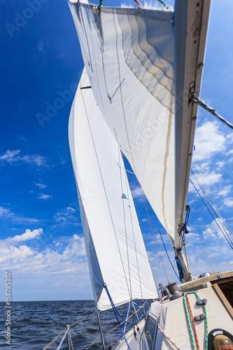 Garden Poster Sailing Yachting yacht sailboat sailing in sea ocean