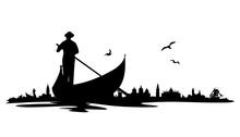 Skyline Venedig Gondel