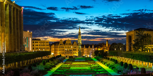 Cityscape of Brussels at night