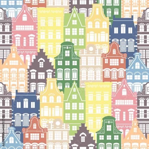 bezszwowy-ksztalta-wzor-holland-stare-fasady-domow-tradycyjna-architektura-holandii-kolorowa-ilustracja-w-holenderskim-stylu