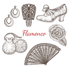 Vector Set Of Flamenco Accesso...