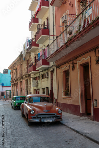 Poster Havana Oldtimer in Havanna, Kuba