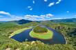 Meandro del Melero desde el Mirador de la Antigua, Riomalo de Abajo, las Hurdes, Caceres, España