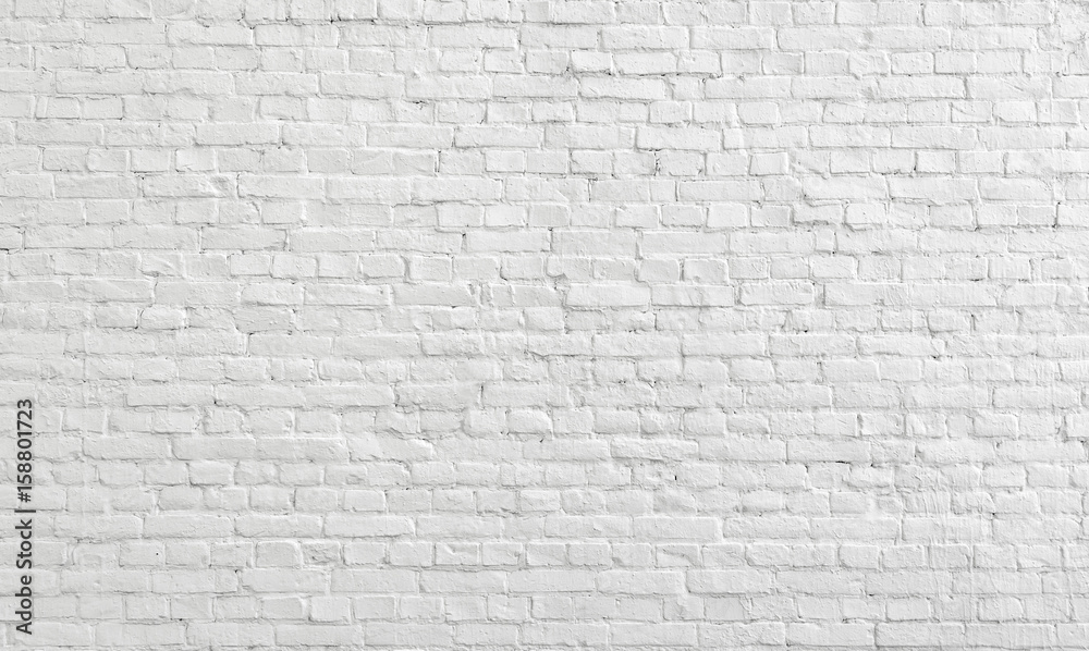 Fototapety, obrazy: White old brick wall urban Background.