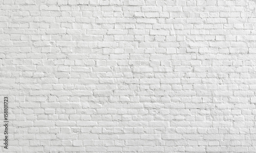 Foto op Plexiglas Baksteen muur White old brick wall urban Background.