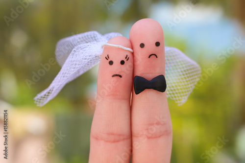 Fotografie, Obraz  Fingers art of couple