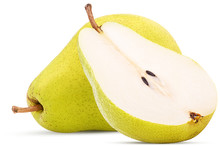 Fresh Pears, One And A Half Yellow Fruit