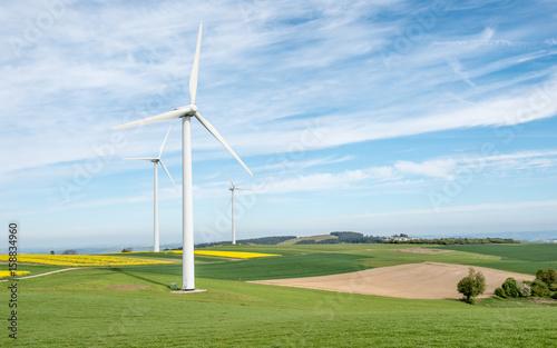 Zdjęcie XXL Turbiny wiatrowe w pobliżu Trewiru