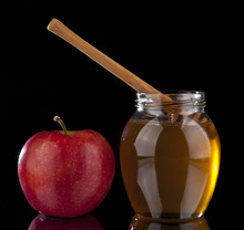 Honey And Red Apple