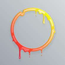 Hot Colors Melting Frame 3d Fl...
