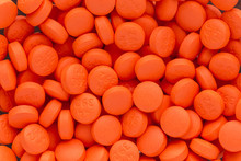 Texture Of Orange Pills