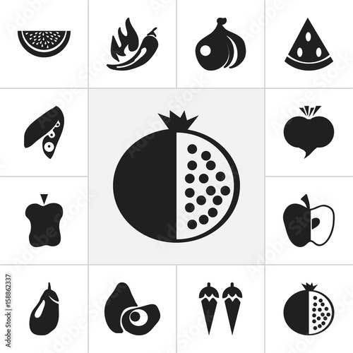 Set Of 12 Editable Dessert Icons  Includes Symbols Such As