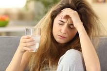 Teen Suffering Head Ache At Home
