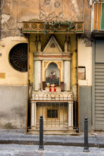 Wayside Shrine In Naples, Italy