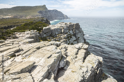 Fotografering  View on the coast from the cape of good hope, South Africa