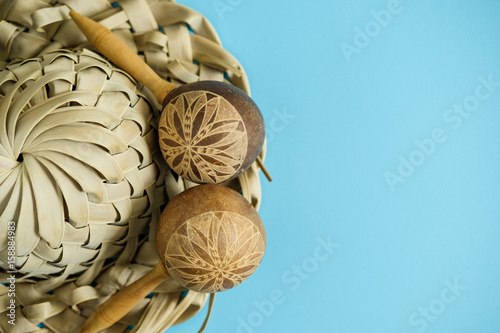 Photo  A Cuban hat from palm leaves